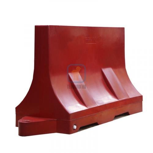 Водоналивной блок дорожный (пластиковый барьер) БДР-1,2 красный