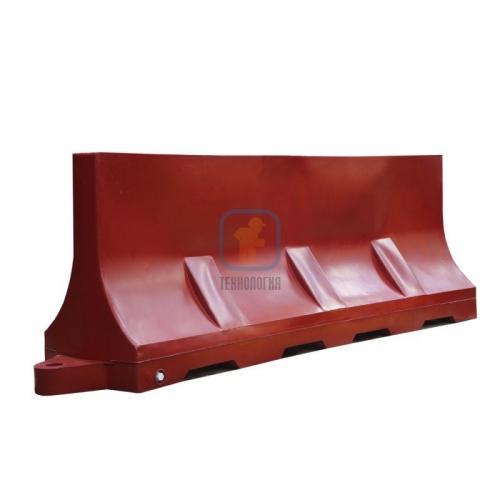 Водоналивной блок дорожный (пластиковый барьер) БДР-2,0 красный