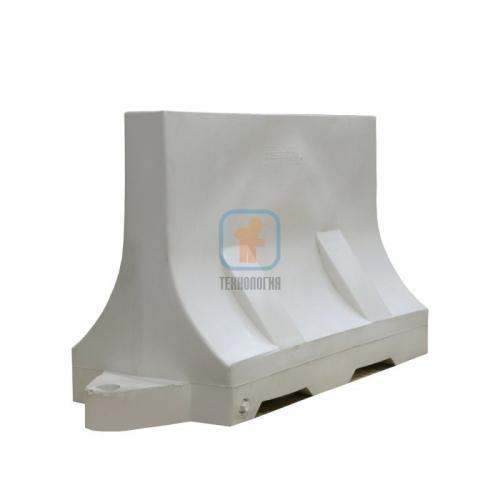 Водоналивной блок дорожный (пластиковый барьер) БДР-1,2 белый