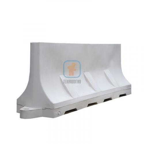 Водоналивной блок дорожный (пластиковый барьер) БДР-2,0 белый