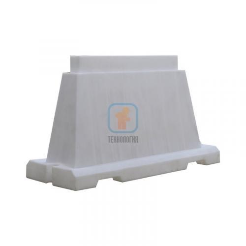 Водоналивной блок дорожный вкладывающийся (пластиковый барьер) БДВ-1,2 белый