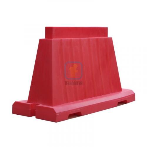 Водоналивной блок дорожный вкладывающийся (пластиковый барьер) БДВ-1,2 красный
