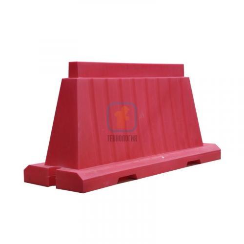Водоналивной блок дорожный вкладывающийся (пластиковый барьер) БДВ-1,5 красный