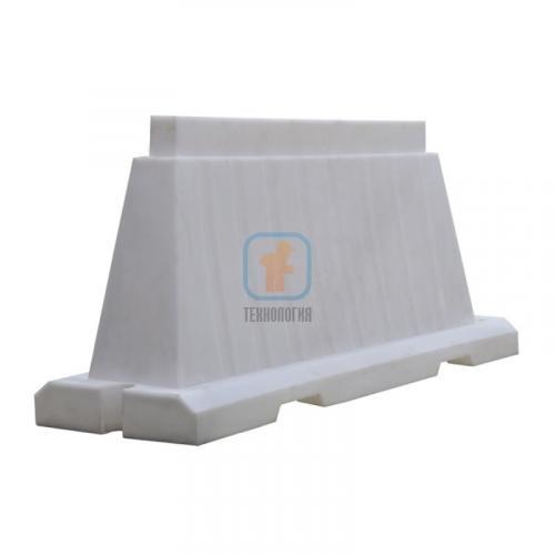 Водоналивной блок дорожный вкладывающийся (пластиковый барьер) БДВ-1,5 белый