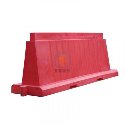 Водоналивной блок дорожный вкладывающийся (пластиковый барьер) БДВ-2,0 красный