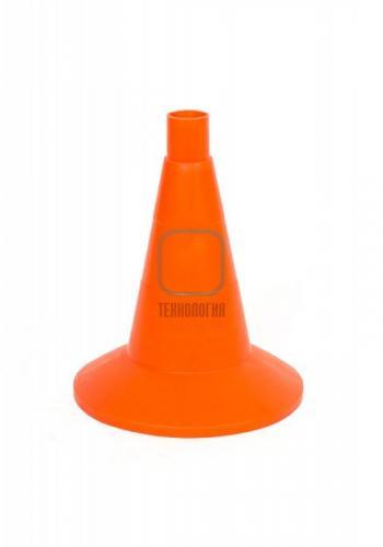Конус дорожный сигнальный КС 1.2 (320 мм) оранжевый, однотонный