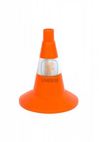 Конус дорожный сигнальный КС 1.6 (320 мм) оранжевый, 1 светоотрожающая полоса