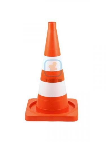 Конус сигнальный КС 2.4 (520 мм) оранжевый, 2 белые полосы