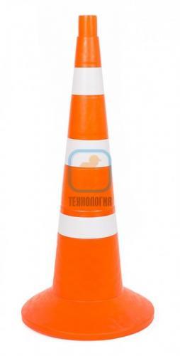 Конус сигнальный КС 3.4 (750 мм) оранжевый, 3 белые полосы