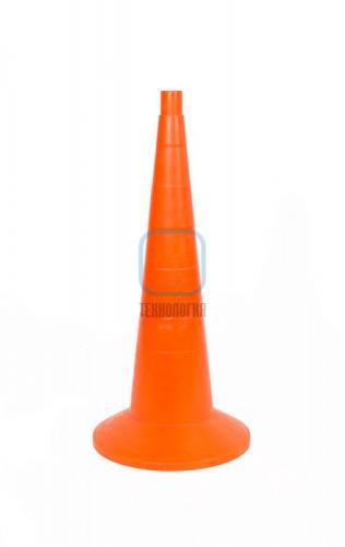 Конус сигнальный с утяжелителем КС 3.2.0 (750 мм) оранжевый, однотонный