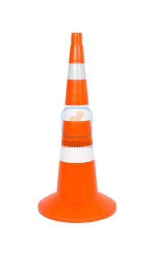 Конус сигнальный КС 3.6 (750 мм) оранжевый, 3 полосы: 1 светоотражающая, 2 белые