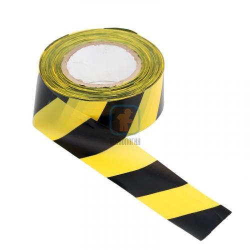 Лента сигнальная оградительная ЛО-200 «Эконом» 50мм/35мкм/200п.м (красно-белая, желто-черная)