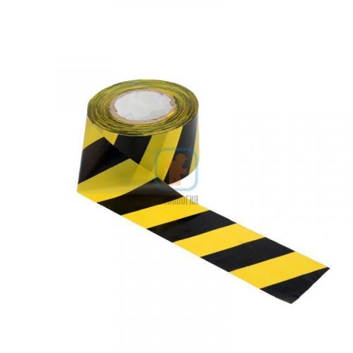 Лента сигнальная оградительная ЛО-250 «Эконом» 75мм/35мкм/250п.м (красно-белая, желто-черная)