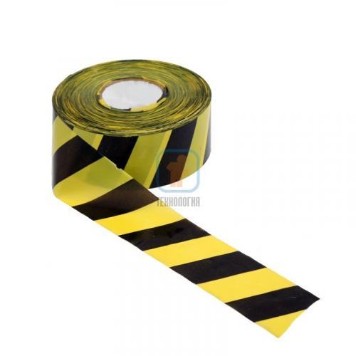 Лента сигнальная оградительная ЛО-500 «Стандарт» 75мм/50мкм/500п.м (красно-белая, желто-черная)