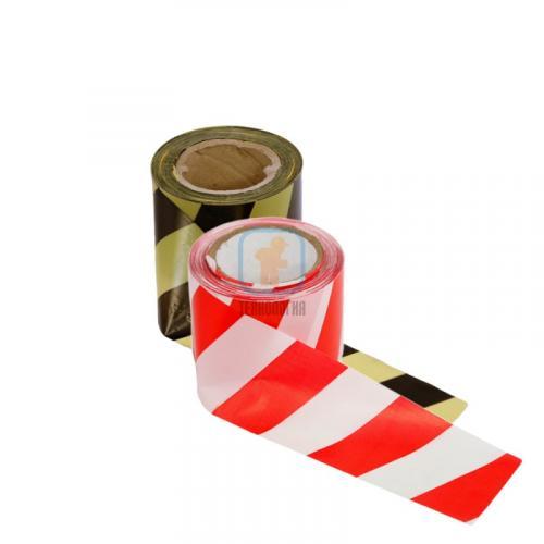 Лента сигнальная оградительная ЛО-100 «Стандарт» 75мм/50мкм/100п.м (красно-белая, желто-черная)