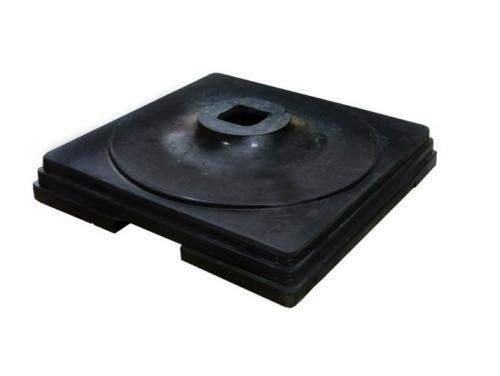 Подставка резиновая (утяжелитель) 6 кг, 340х340х50 мм