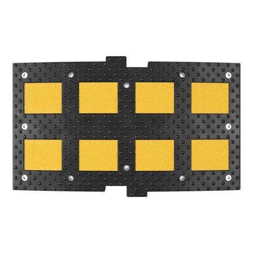 Лежачий полицейский ИДН-900-1 Средний элемент + Усиленное крепление + Армирование металлокордом  (искусственная дорожная неровность)