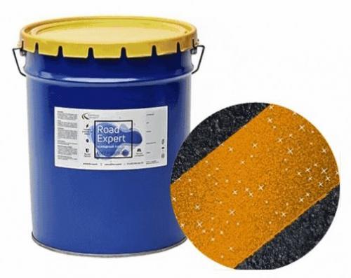 "Холодный пластик ""Road Expert"" желтый со стеклошариками"