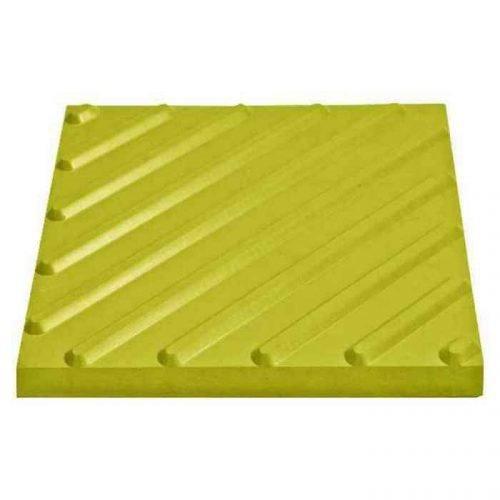 Тактильная плитка диагональный риф 500