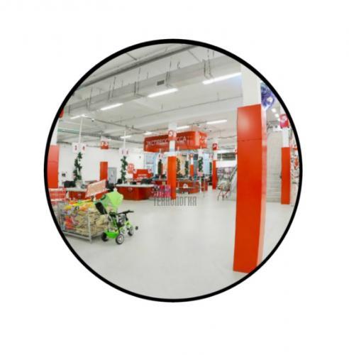 Зеркало для помещений круглое на гибком кронштейне 500мм
