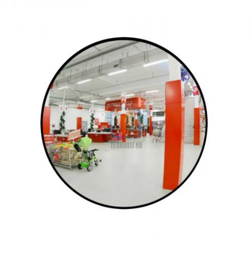 Зеркало для помещений круглое на гибком кронштейне 400мм