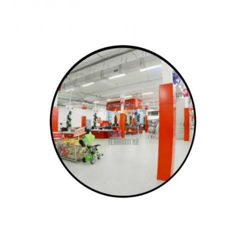 Зеркало для помещений круглое на гибком кронштейне 300мм
