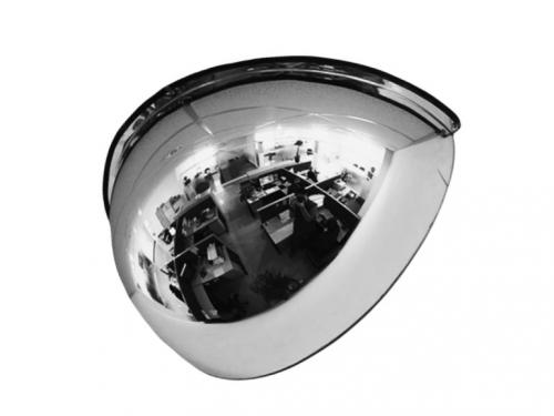 Зеркало для помещений купольное четверть сферы 600мм.