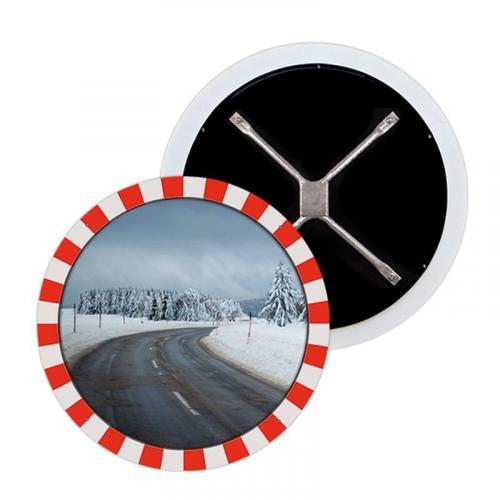 Зеркало сферическое круглое из нержавеющей стали 600 мм для условий севера