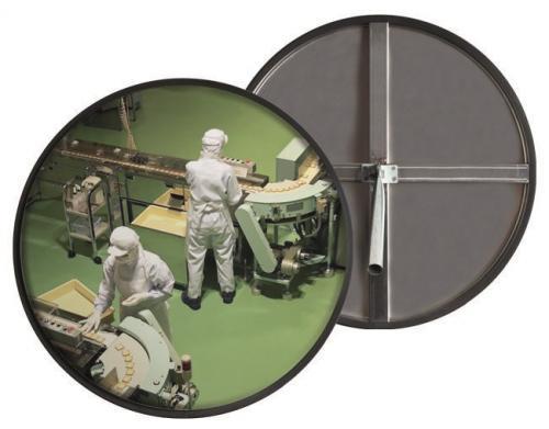 Зеркало сферическое круглое из нержавеющей стали 490 мм для помещений