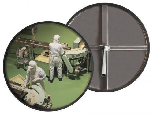 Зеркало сферическое круглое из нержавеющей стали 600 мм для помещений