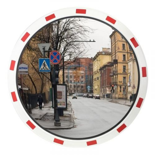 Зеркало дорожное со светоотражающей окантовкой круглое 800 мм