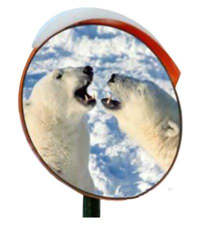 Зеркало дорожное с устройством электрообогрева d-600 мм с козырьком круглое