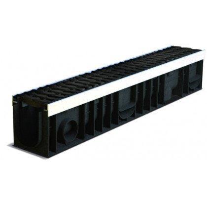 Лоток пластиковый SteeStart  Е600 в комплекте с решеткой чугунной DN100 H170