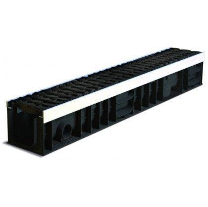 Лоток пластиковый SteeStart  Е600 в комплекте с решеткой чугунной DN100 H138