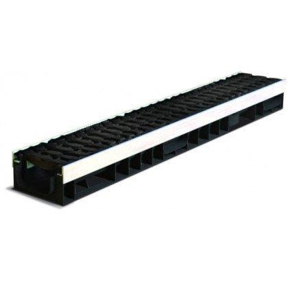Лоток пластиковый SteeStart  Е600 в комплекте с решеткой чугунной DN100 H90