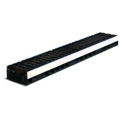 Лоток пластиковый SteeStart  Е600 в комплекте с решеткой чугунной DN100 H72