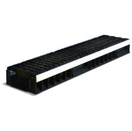 Лоток пластиковый SteeStart  Е600 в комплекте с решеткой чугунной DN150 H97