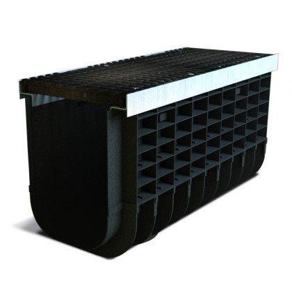 Лоток пластиковый SteeStart Е600 в комплекте с решеткой чугунной DN300 H435