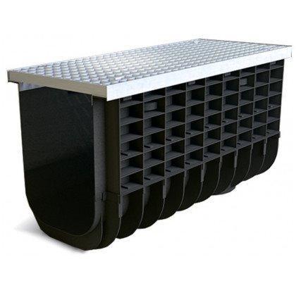 Лоток пластиковый SteeStart  А15 в комплекте с решеткой ячеистой DN300 H325