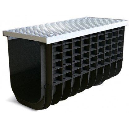 Лоток пластиковый SteeStart  А15 в комплекте с решеткой ячеистой DN300 H525