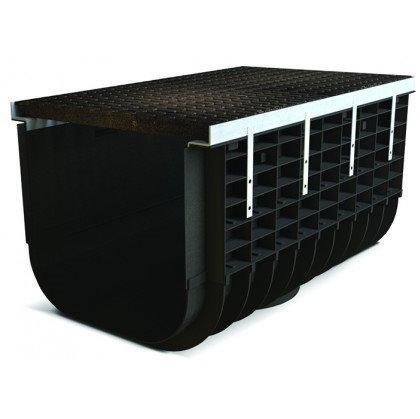 Лоток пластиковый SteeStart  С250 в комплекте с решеткой чугунной DN500 H315