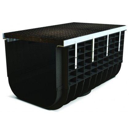 Лоток пластиковый SteeStart  С250 в комплекте с решеткой чугунной DN500 H515