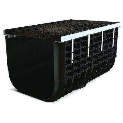 Лоток пластиковый SteeStart  С250 в комплекте с решеткой чугунной DN500 H565