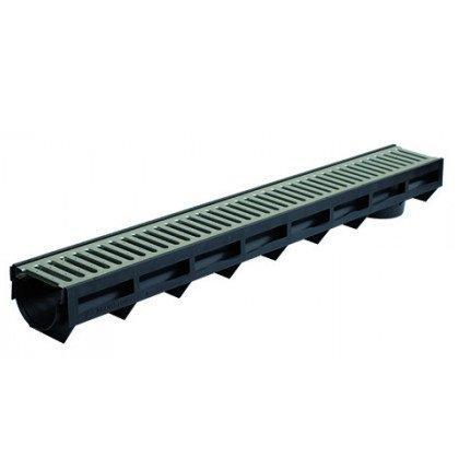 Канал водоотводный КВ12,5*8 DN100 в комплекте с оцинк. решеткой